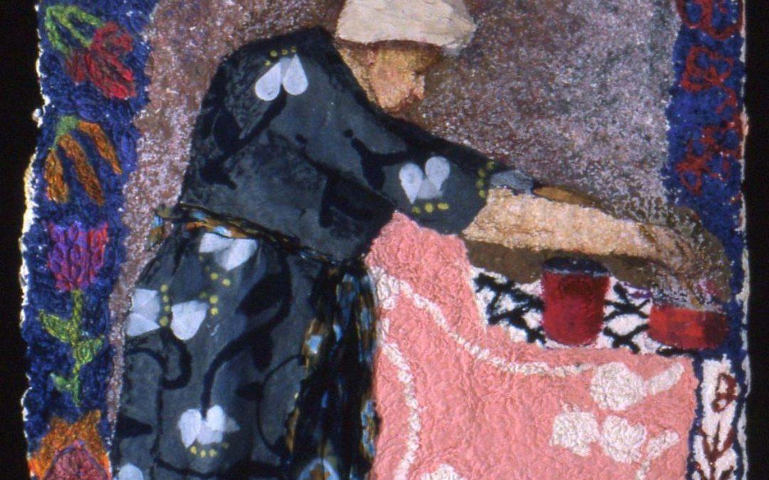 Paper pulp paintings